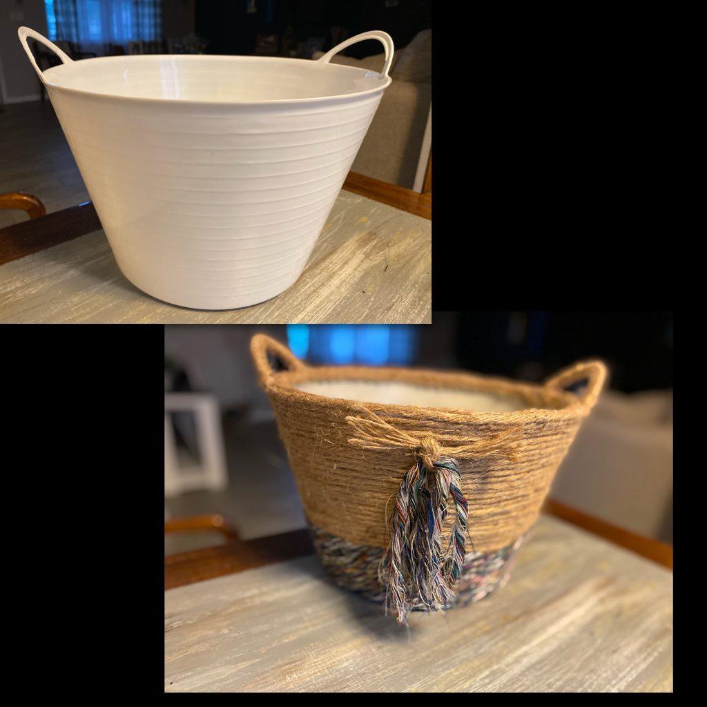 DIY $3 Boho Basket